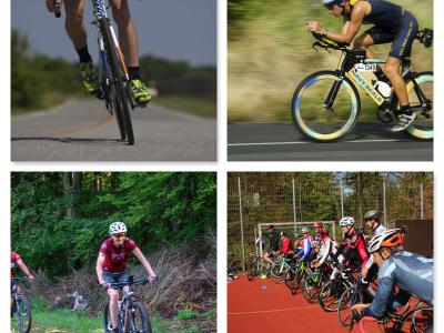Collage Radfahren